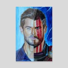 Thor Hemsworth - Acrylic by Anna Shapovalova
