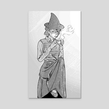 Tea witch - Acrylic by Tori Clough
