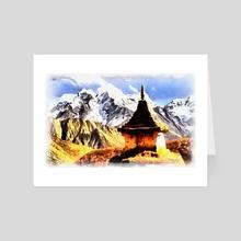 Tibet - Art Card by valeriy ustinov