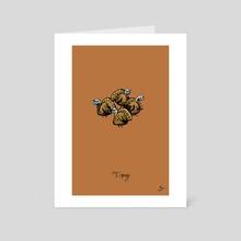 T) Gang of Turkeys - Art Card by Mal Jones