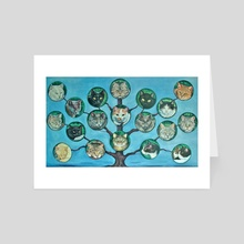 Cat tree - Art Card by Certon Kisters