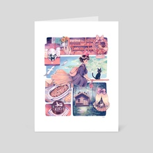 A town with an ocean view - Art Card by Caomor