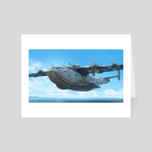 Sea Plane - Art Card by Hamish Frater