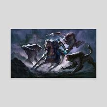 Jace vs Werewolf - Canvas by Mathias Kollros