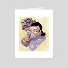 i like my coffee how i like my magick - Art Card by Veronika Gorbatenko