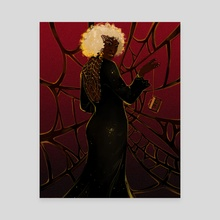 Spider lady - Canvas by Marina Vermilion