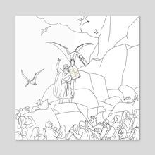Jesus, Etc. III (Alt) - Acrylic by Jon Stick