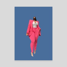 The pink suit - Canvas by Pierre Rutz