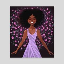 Violets - Canvas by David