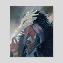 Blemish - Valravn - Acrylic by Nina Nowacki
