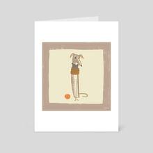 Whippet - Art Card by Sarah Kurpiel