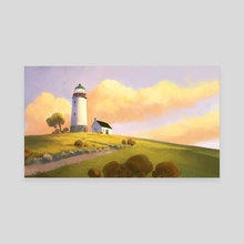 Lighthouse On A Hill - Canvas by Tuomas Korpi
