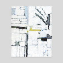 Cubism Dream - White Abstract Painting - Canvas by Guy Gondron
