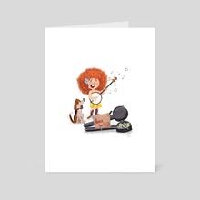 Busker 2 - Art Card by Jez Tuya