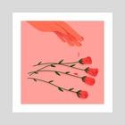 Red Roses - Art Print by Maureen Keeney