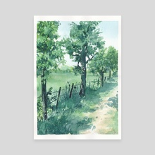 DogWalk I - Canvas by Anja Grote