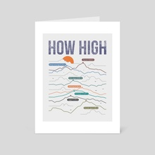 how high - Art Card by MUSTAFA AKGUL