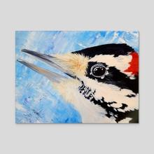Woodpecker - Acrylic by Jason Vukovich