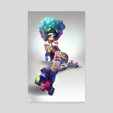 Roller Girl - Canvas by Zork Marinero