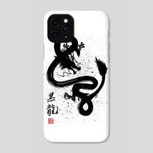 Kokuryuu (The Black Dragon) - Phone Case by Sumimaru