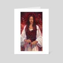 Red - Art Card by Kevin Wasden