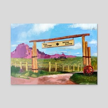 The Ranch - Acrylic by Arienne Boley