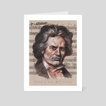 beethoven - Art Card by mamut  rojo