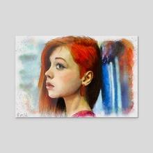 Red III - Acrylic by Rick van de Moosdijk
