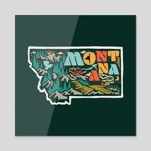 Montana - Acrylic by Jimmy Bryant