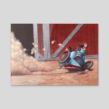 """""""Wheeeee!"""" - Acrylic by Greg Marathas"""