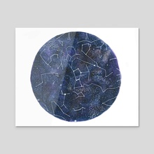 Watercolor Star Chart - Acrylic by Brooke Fitzwater