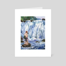 Waterfall kiss - Art Card by katrin sure