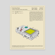 Compact Video Game System Patent (1993) - Canvas by Jazzberry Blue