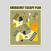 Emergency Escape Plan 3 - Canvas by Jazzberry Blue