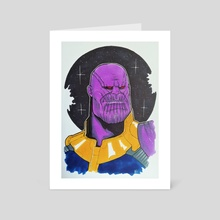 Thanos - Art Card by Nilla Skaalu