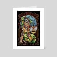 Prepare / Meseh - Goba Bali  - Art Card by Yuda Bento
