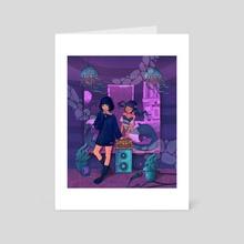 Dreaming Mermaid - Art Card by Wong Pansy