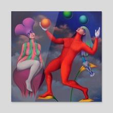 Equilibrista - Acrylic by Jose De la Barra