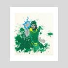Doom  - Art Print by andrew garza