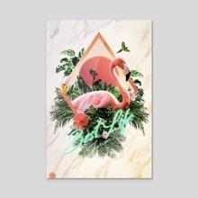 Flamingo - Acrylic by Hubert Pelerin