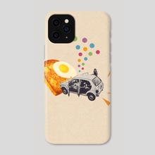 Don't Forget Breakfast! - Phone Case by LennyCollageArt
