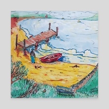 A Happy Day - Canvas by Sarah Blakeman