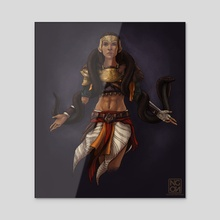 Amunet, the Mother of the Brotherhood - Acrylic by NgenoART