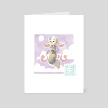 Chinese Zodiac - rabbit - Art Card by Yihyoung Li