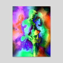 Dancers - Acrylic by Kurt Van Wagner
