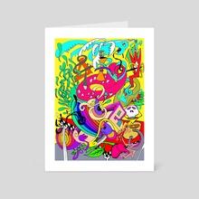 The Dream of a Loving Rose - Art Card by ART GURU