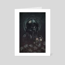 Skull pilot - Art Card by Rafał Rola
