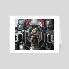 Moadebe - Battletech Portrait - Art Card by Colin Mowat