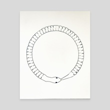 Ouroboros - Canvas by Casey Johnson