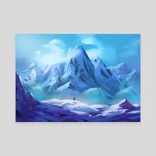 The Snowland - Canvas by Elias Neophytou